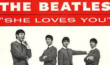 "El 1 de julio de 1963 los Beatles grabaron ""She loves you"""