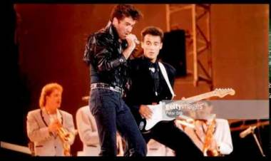 El 28 de junio de 1986 Wham concierto de despedida estadio de Wembley