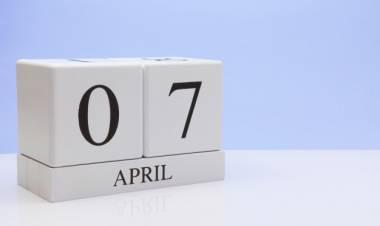 Efemérides de música de este  7 de abril