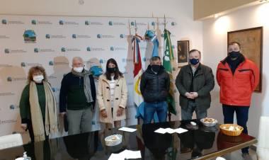 El Senador Michlig y la Intendenta López recorrieron obras y visitaron instituciones de San Guillermo