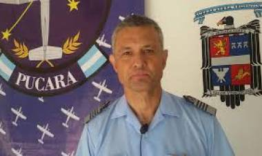 Comodoro Plinio Guillermo Poma, jefe de la tercera brigada de Reconquista en el Día de la Fuerza Aérea Argentina