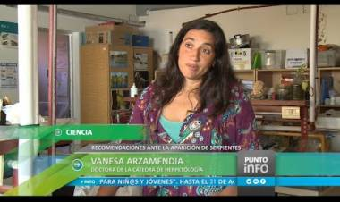 Vanesa Arzamendia y la presencia de serpientes en zonas urbanas por la quema de pastizales