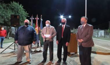 Suardi: Inauguración de 2 cuadras de Cordón Cuneta, Ripio e Iluminación Led sobre Bv. San Martín