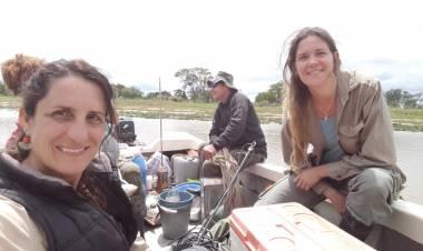 """Paula Huber: """"Estamos enfocados al estudio de los microorganismos del río Paraná y las lagunas de la zona"""