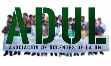 Oscar Vallejos y el comienzo de una jornada de protesta de ADUL