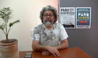 Oscar Vallejos y las medidas de fuerza de ADUL que se profundizan