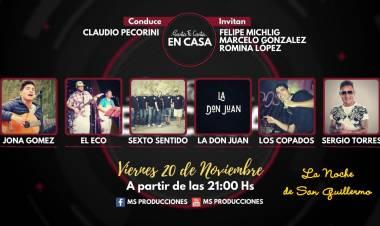 """Este viernes arranca el ciclo de recitales """"Santa Fe Canta en Casa"""" desde el Departamento San Cristóbal"""