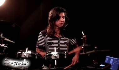 Julia Pagnutti una de las bateristas más destacadas de Santa Fe
