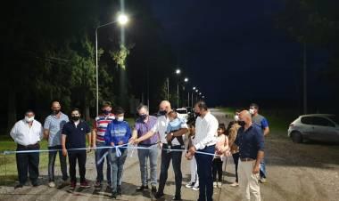 Michlig y Abba inauguraron Iluminación Led en Colonia La Clara