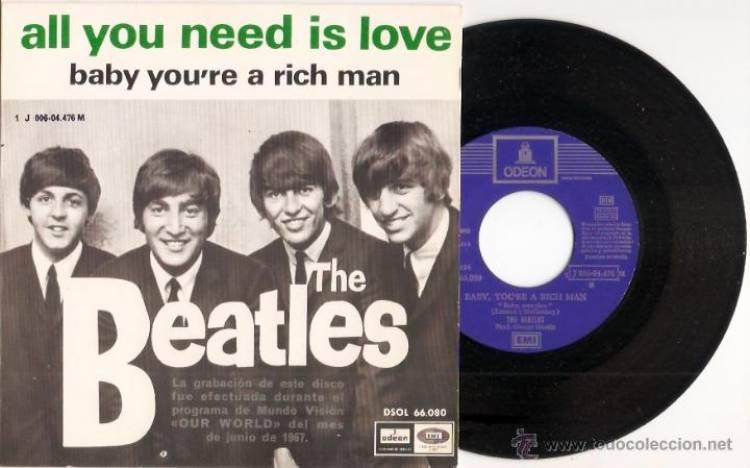 """Entre el 14 y el 25 de junio de 1967 The Beatles graban """"All you need is love"""""""