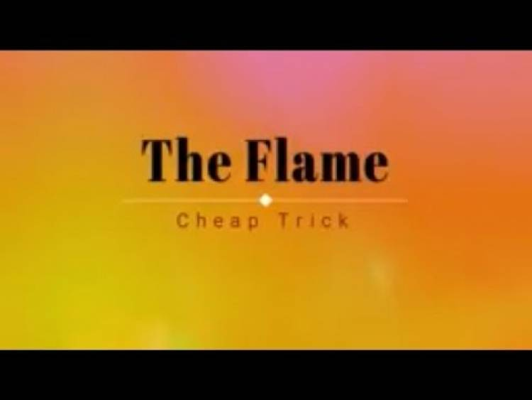 """El 3 de julio de 1988 es puesto Nº 1 Billboard Pop Hit """"The Flame"""" de  Cheap Trick"""