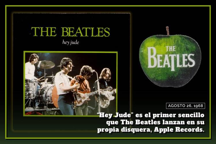 El 26 de agosto de 1968 se publica el single «Hey Jude»
