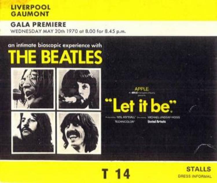 El 20 de mayo de 1970 se estrena en Inglaterra Let It Be