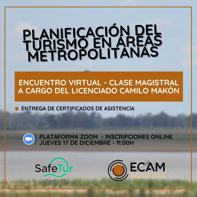 """Encuentro virtual sobre el tema: """"Planificación del turismo en las áreas metropolitanas""""."""