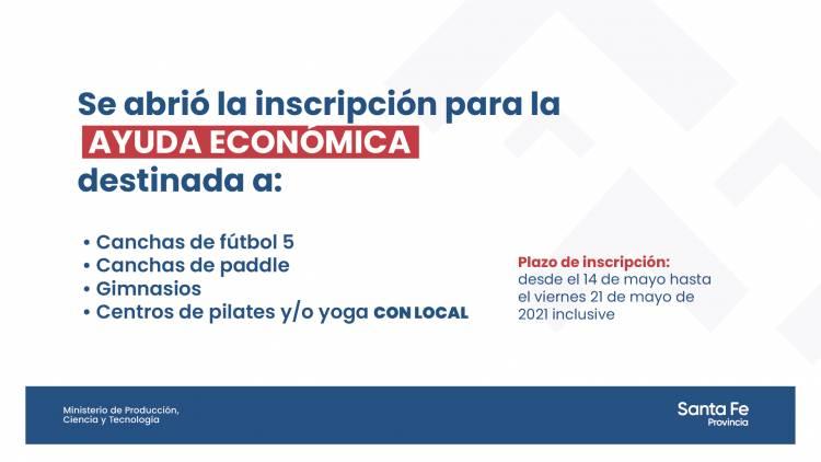 La provincia recuerda que hay plazo hasta mañana 21 de mayo para tramitar la Asistencia Económica de Emergencia a los sectores afectados por la pandemia