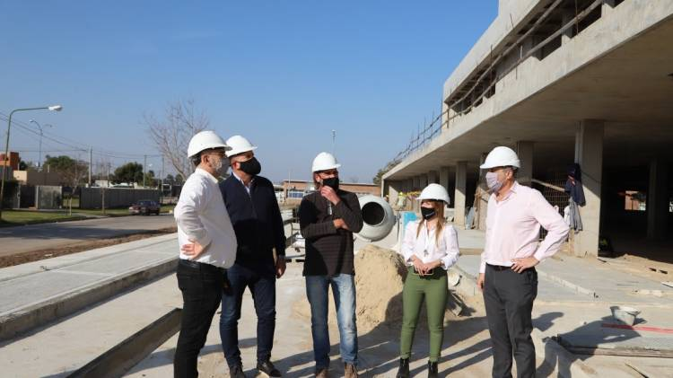 Perotti recorrió la obra del nuevo Hospital de Rafaela