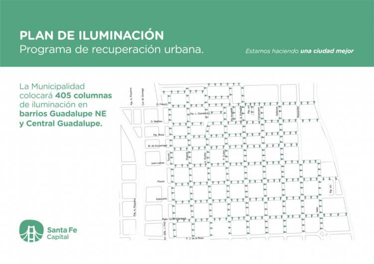 Jatón presentó las obras de iluminación para Guadalupe Noreste por $ 50 millones